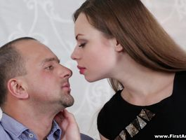 Glamor brown-haired beauty Susen's skinny cunt barely accommodates a thick and long boner
