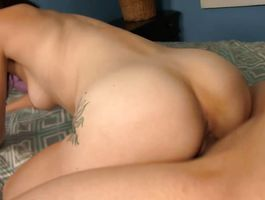 Appealing darling is fucking hunk just for fun while he is moaning from pleasure