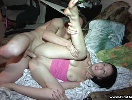 Fellow is fucking delicious brown-haired Evelyn Cage to check his skills and shape