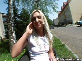 Luxurious blond girl Vanesa Soft eagerly hops on her guy's throbbing member