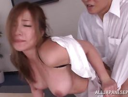 Lovable breasty girlie Minori Hatsune and her wet cherry with intensity and desire