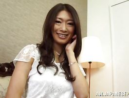 Glamor Reiko Kobayakawa with curvy tits is getting fucked and loudly groaning from joy