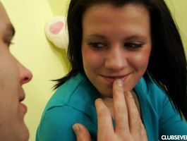 Staggering beauty Lussy B bows over for a vigorous fuck session