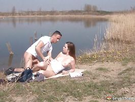 Aphrodisiac brown-haired Pascalle B needs a huge schlong inside her