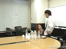 Striking maid rides a dick