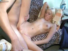 Playful bitch Teena Lipoldino puts a massive lever in her juicy mouth