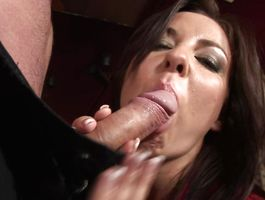 Aphrodisiac big titted brown-haired girlfriend Maria Belluci is fucking stud like a real slut in the middle of the day