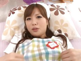 Voluptous sweetie Miyu Hoshino with firm tits got fingerfucked from the back until this babe started groaning