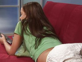 Overwhelming brown-haired teen playgirl Ivana Fukalot receives an intense doggy style pounding