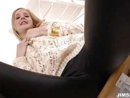 Lovely blond Alica is getting fucked from the back and enjoying
