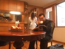 Immodest barely legal minx Akiho Yoshizawa got fingered from the back and then gave a handjob to guy