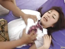 Engaging barely legal Saya Yukimi got banged from the back 'coz she likes it the most