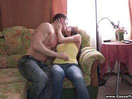 Slender barely legal brunette Sasha gives head in cab previous to having her cunt fingered