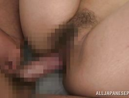 Lover licks enticing chick An Mizuki's fanny before stuffing it by his chopper
