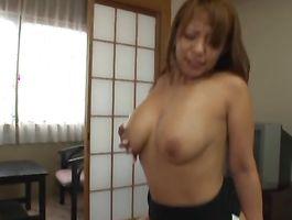 Adorable bosomed floosy Yuu Sakura previous to she gets to be fucked