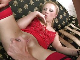 Sensational blond minx Kim know when it is time for her fuck