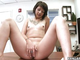 Sultry Coco Velvett got her butt lubed and filled up with a meaty phallus