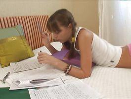 Foxy youthful cutie Ivana Fukalot doing her job perfectly