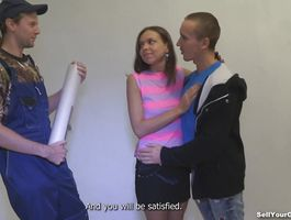 Startling teen Candy Julia got hurt so a nice boyfrend helped her get over it in each way