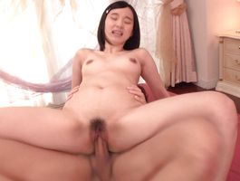 Stupefying playgirl Saori Maeda is getting her perfectly waxed poontang screwed hard and getting ready to cum