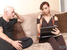 Voluptous ebony Lacy Green takes it doggy style hard and fast
