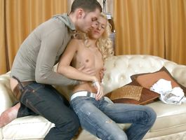 Delectable blond floosy Elin is about to get properly creampied