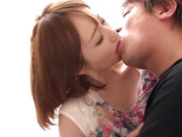Raunchy busty doxy Ayu has a boyfriend who loves to fuck her