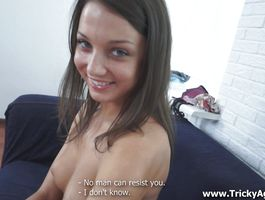 Charming brunette Aubrey and her gazoo rides the fellow's cock