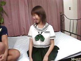 Horny sweetie Mayu Yagihara with big tits enjoys riding hard and fast