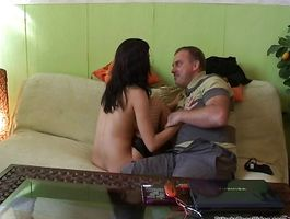 Foxy minx bags with her horny experienced fucker