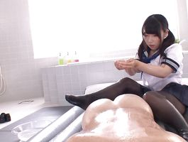 Pungent young chick Cocoa Aisu gets tricked into a blow job and wants more