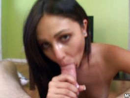 Passionate brunette Ariana Marie got fucked from the back until lad cummed on her wazoo