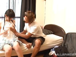 Bewitching Machiko Ono desperately needed a good fuck so lad came to help her out