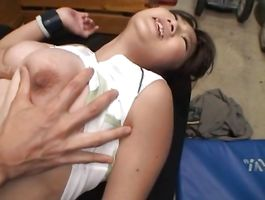 Pretty girlfriend Yuka Nishii with massive tits is avid to jump on huge lovestick