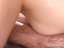 Sexy babe Miyui Kaga has a one-eyed monster she's gobbling on hard