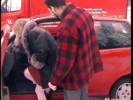 Horny blond girlie Angela H loves sloppy oral games with her man