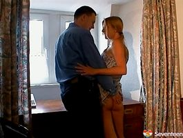 Aroused Anja C is mad to disrobe and give head