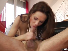 Lustful brunette Mira Shine is getting fucked and screaming from pleasure cuz she likes it a lot