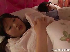 Fascinating teen Aya Miyazaki eagerly sucks her playmate's pecker previous to he fucks her