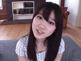 Charming girlie Aya Miyazaki eagerly pumps her quim on a firm trouser snake