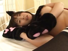 Dishy lady Tsubomi with curvy love bubbles has vehement fuck session