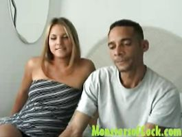 Horny stud's stiff pecker is expertly blown by hot-tempered latin brown-haired Veronika Raquel