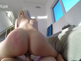 Pleasant floosy Elsa's juicy pussy getting fucked with so much perfection