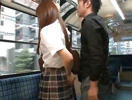 Addicted delectable legal age teenager Rina Rukawa seduces a playmate and bonks him shitless