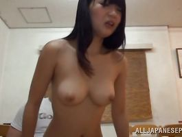 Seductive slut Ichigo Tominaga fucked just the way she can't live without