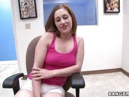 Mischievous redhead Randi Ryan cant control her voice while being plowed with vigor