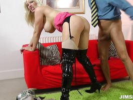 Enchanting blonde Rebecca More is eager to be pounded like a whore