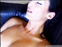 Insatiable brown-haired babe Lada likes to suck guy's schlong until he cums