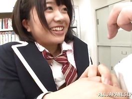 Nasty Aki Hinomoto is eagerly sucking a giant meat and getting fucked from the back