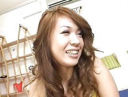 Racy Yuuna Enomoto with big tits is hungry for bulky meaty bazooka